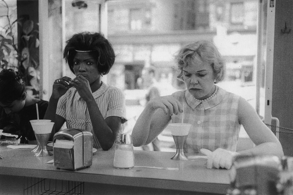 Untitled  (Two women at counter), 1961-1965 Silver Gelatin Print 11 x 14 inches