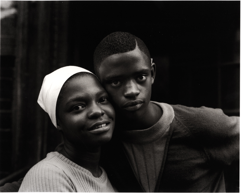Untitled  (Young couple, white scarf), 1966-1968 Silver Gelatin Print 11 x 14 inches