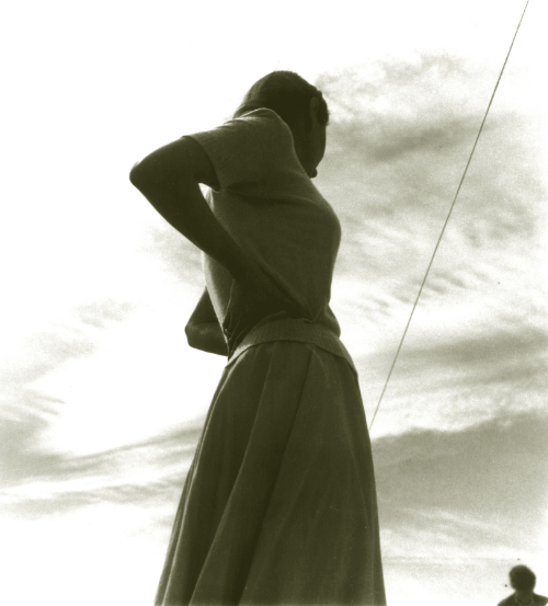 Helen, Vernallis, outside Tracy, CA, 1949