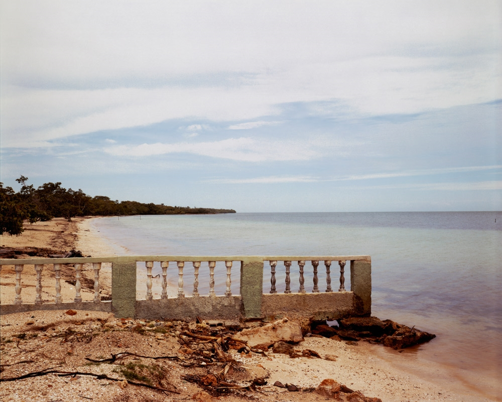 View Toward Mangrove Swamp and Desembarco del Granma (Granma Landing Site), Villa Las Colorados,  2002 C-print 20 x 24 inches