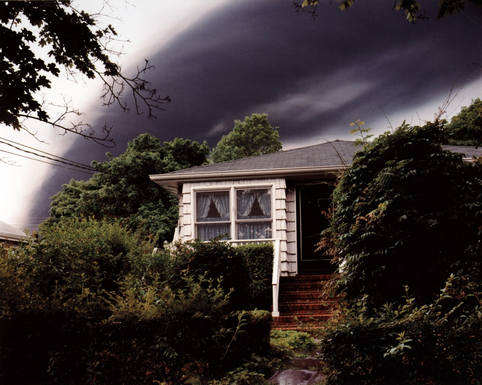 Evacuated House and Smoke from Three Million Gallons of Gasoline Burning in a Shell Oil Fuel Tank Struck by Lightening, Woodbridge, NJ , 1996