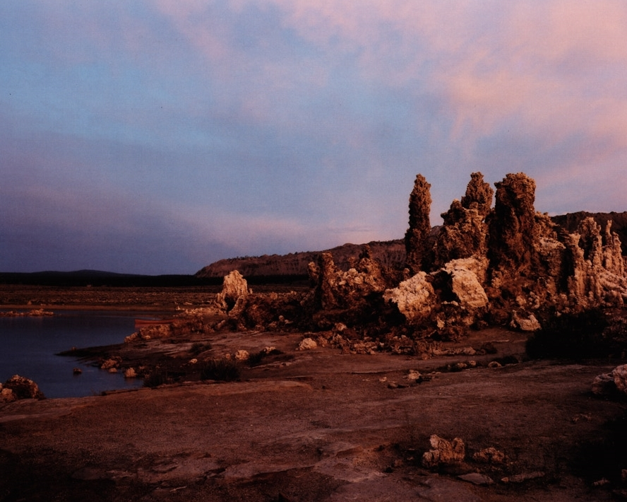 Tufa Exposed as Mono Lake is Drained to Provide Drinking Water for Los Angeles, Owens Valley, CA , 1995