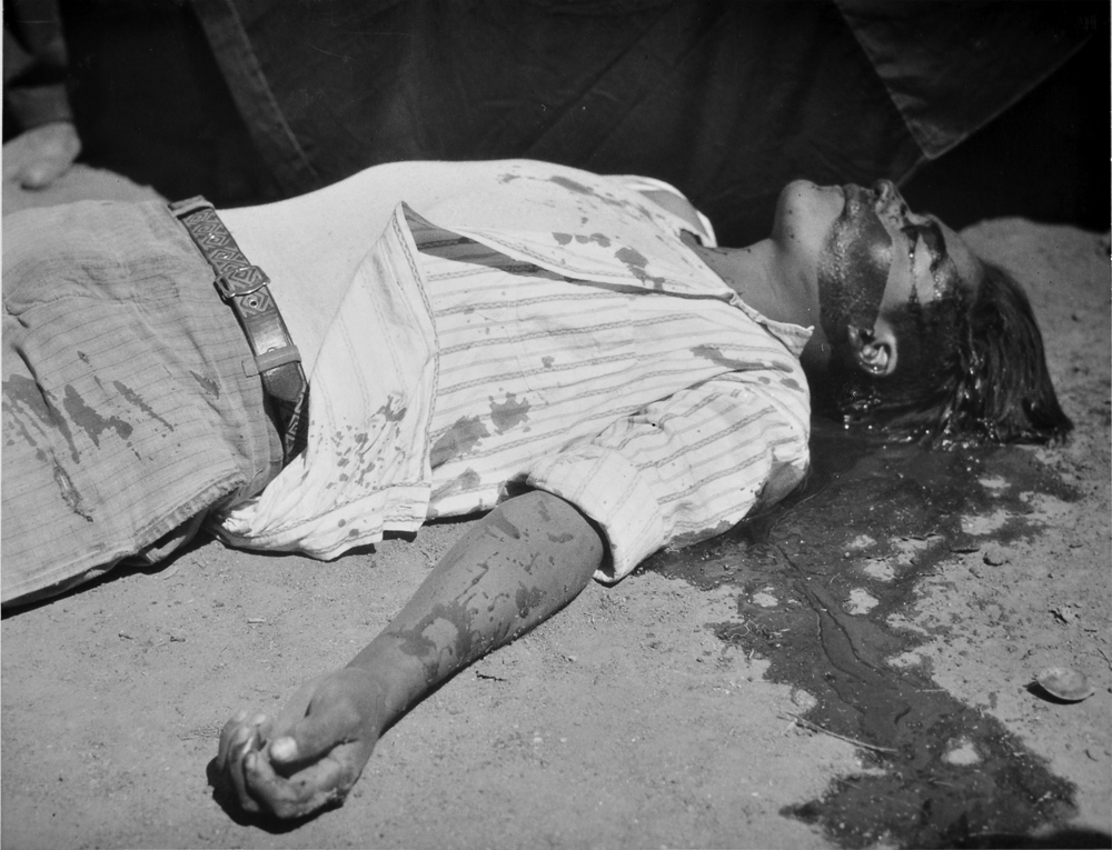 Obrero en huelga asesinado , 1934