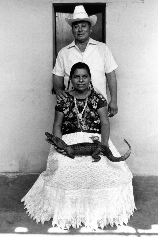 Padrinos del lagarto , Juchitán, Oaxaca, 1984 Silver Gelatin Print Image 11 x 7 1/2 inches/Sheet 12 x 9 1/2 inches