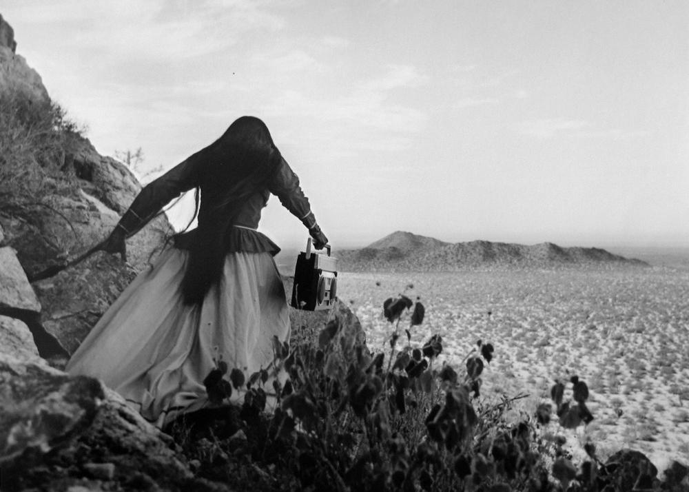 Mujer ángel , Desierto de Sonora, 1979 Silver Gelatin Print 16 x 20 inches