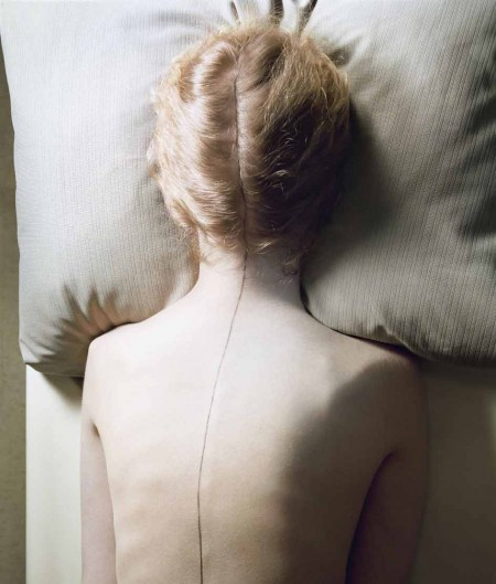 "Jo Ann Callis, ""Woman with Black Line"" (1976-77)"