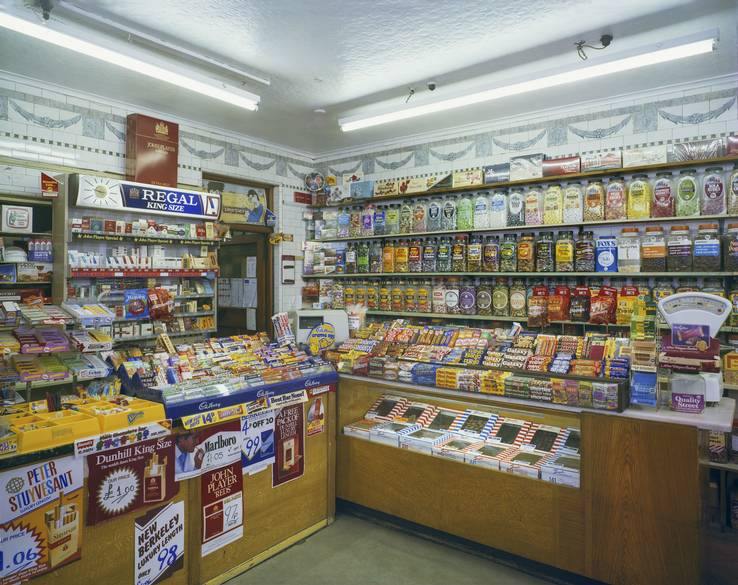 Jim Dow, Southward's Sweet Shop, Scarborough, North Yorkshire 3 June, 1983