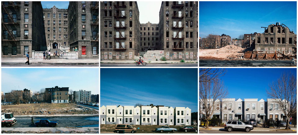 Vyse Ave. at East 178th St., Bronx, New York, shown in 1980, 1984, 1986, 1988, 1993 and 2013.