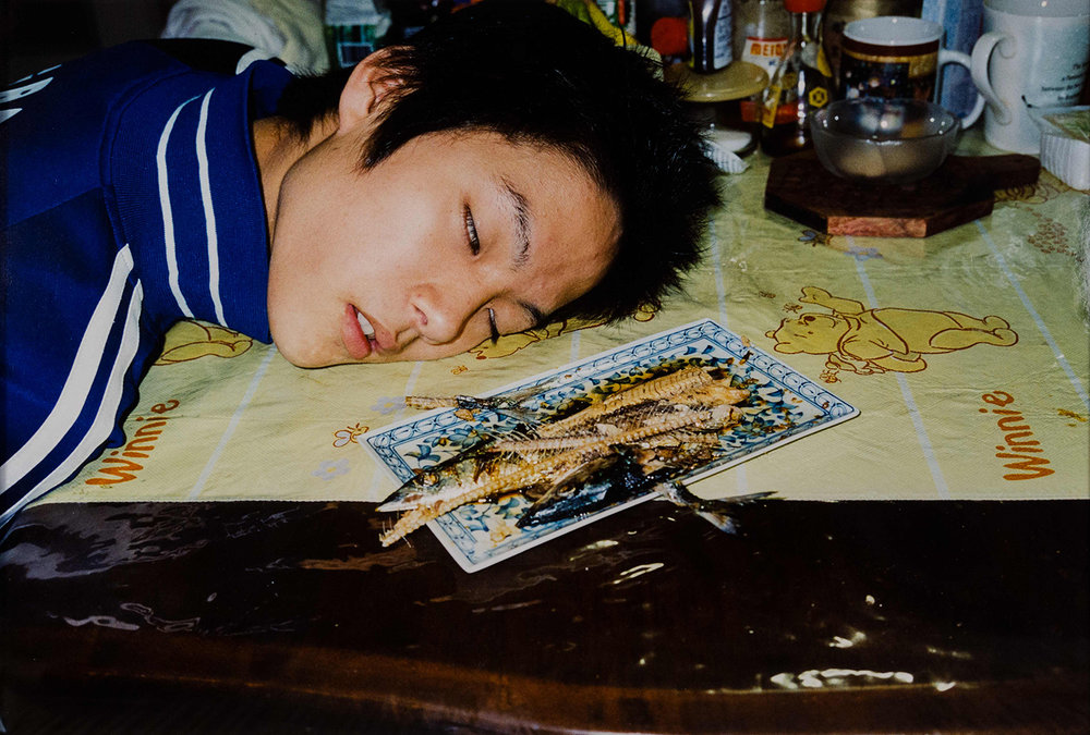 Motoyuki Daifu Asleep with Fish, 2009 Gloria Katz & Willard Huyck Collection