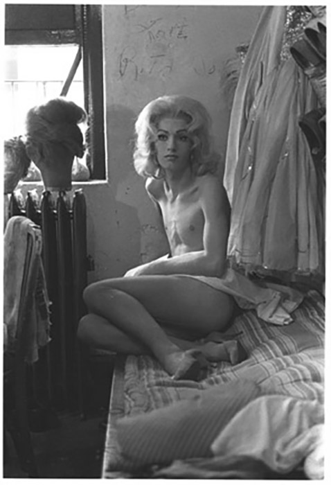 Diane Arbus  Female Impersonator on a Bed, N.Y.C. , 1961 14 x 11 inch Silver Gelatin Print