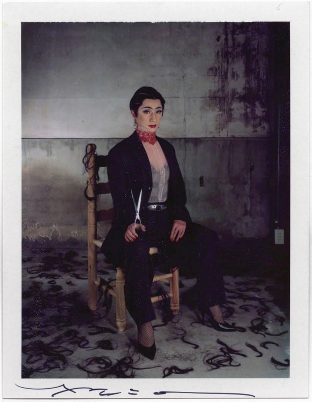 Yasumasa Morimura  For Frida 3 , 2001 4 x 5 inch Polaroid