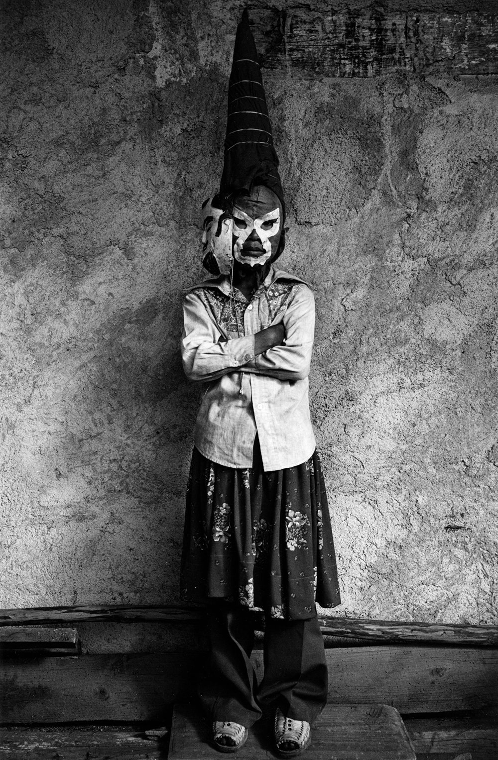 Graciela Iturbide  Jano,  Mexico, 1981 Sheet: 20 x 16 inches / Image: 17 x 12 inches Silver Gelatin Print Illustrated in:  Sueños De Papal , Fondo de Cultura Economica, 1985, page 31;  Graciela Iturbide: Images of The Spirit, Aperture , 1996, page 47