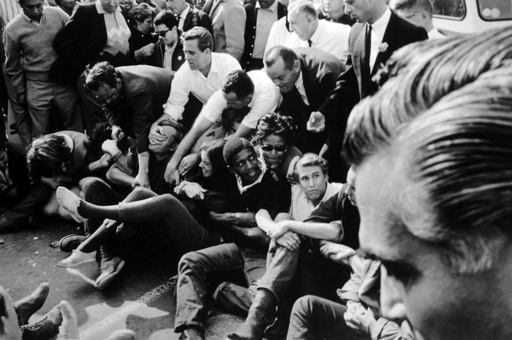 Untitled (Civil Rights Demonstration) No. 1, Downtown Federal Building, Los Angeles, CA, 1965