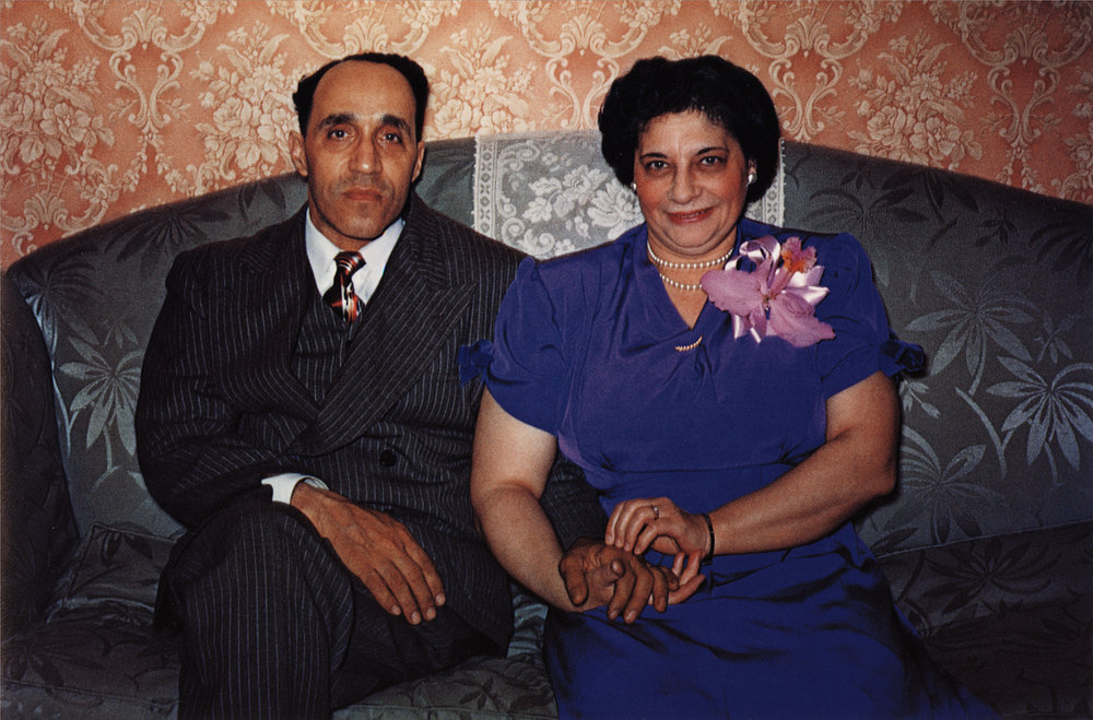 Guy Stricherz Americans in Kodachrome 1945-1965  Nana and Beba, Brooklyn, New York,  c. 1949 Photographer: William A. Cochrane, Jr.  20 x 30 inches Dye Transfer Print