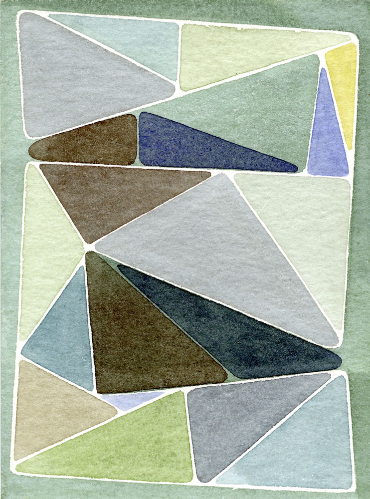 Shaun McCracken   Untitled #239 , 2012 6 x 4.5 inch Watercolor and gouache on paper