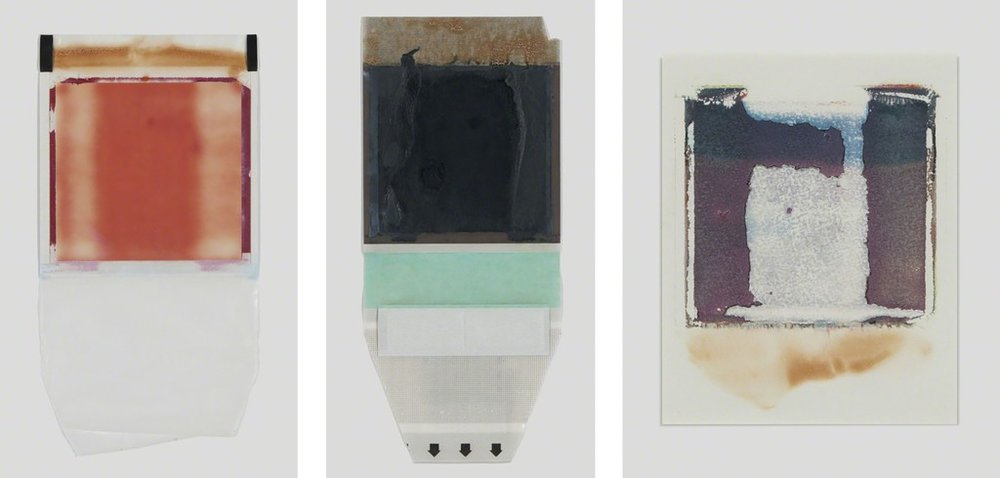 Her Heart Belongs to Rothko, Tripticon 1, Polaroid, Polaroid Back, and Polaroid Transfer,  1997
