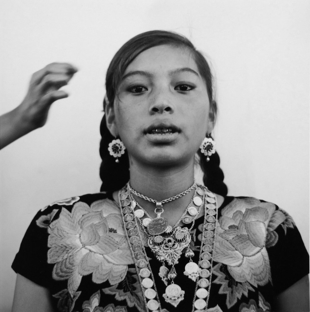 Mujer zapoteca, Tonalá, Oaxaca,  1974  10 x 9.5 inches Gelatin Silver Print