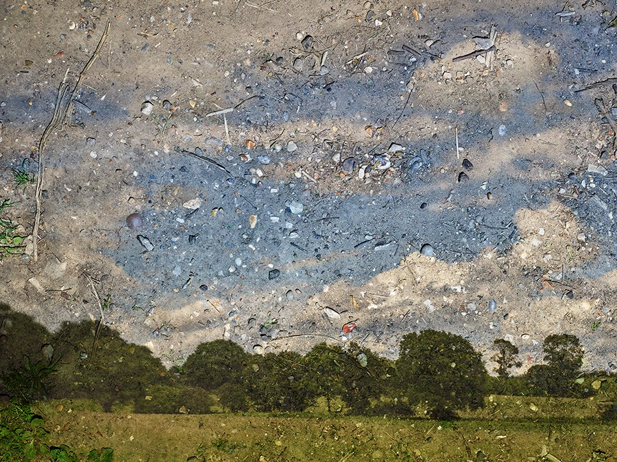 Copy of Tent-Camera Image: Rapidly Moving Clouds Over Field. Flatford, England, #1, 2017