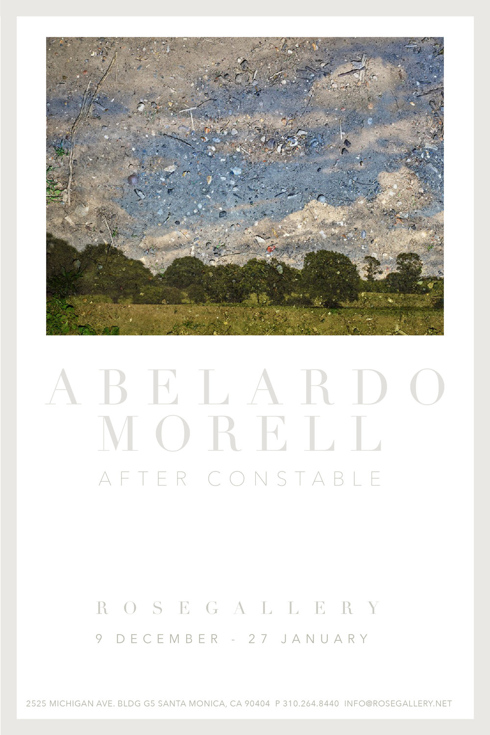 pictured: Abelardo Morell, T ent-Camera Image: Rapidly Moving Clouds Over Field. Flatford, England #2 , 2017