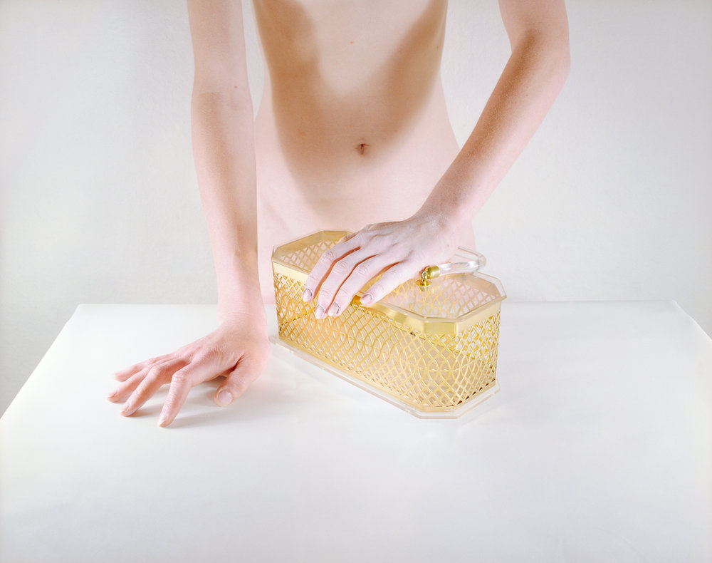 Woman with Gold Purse , 1979  Archival Pigment Print  16 x 20 inches
