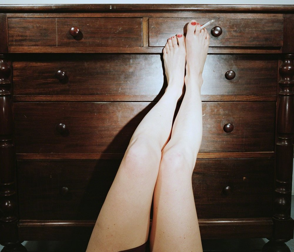 Cigarette in Toes , 1976-1977  Archival Pigment Print  24 x 30 inches