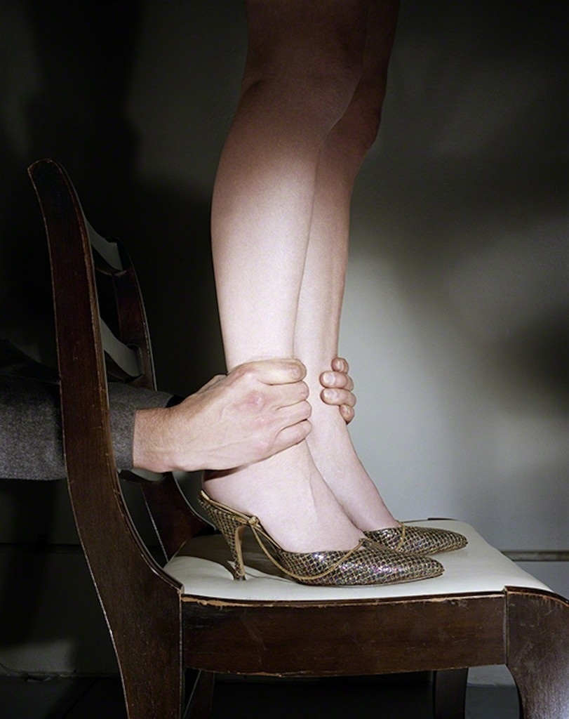 Hands Grabbing Ankles , c. 1976  Archival Pigment Print  24 x 30 inches