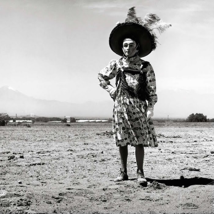 Graciela Iturbide    Carnaval, Tlaxcala, Mexico,  1974  20 x 16 inch Silver Gelatin Print