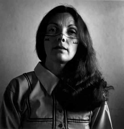 Graciela Iturbide   Autorretrato con los indios seris , Desierto de Sonora, México, 1979 10 x 8 inch Silver Gelatin Print Signed by the artist in ink on recto Printed under the supervision of the artist From the collection of the artist $4,000