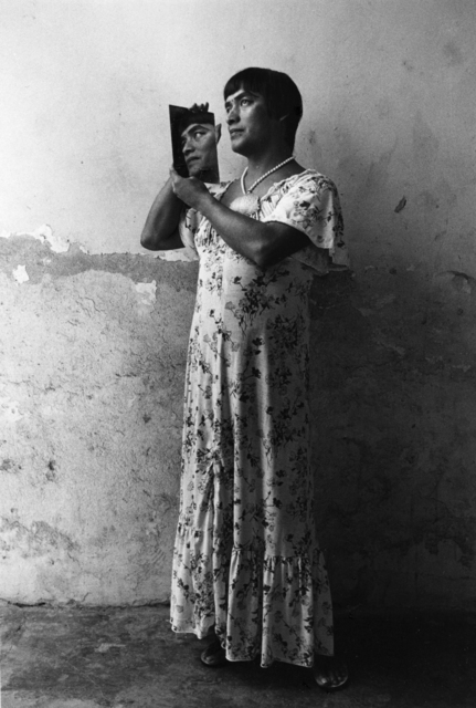 Graciela Iturbide   Magnolia en el espejo, Juchitán, Oaxaca , 1986 16 x 20 inch Silver Gelatin Print Signed by the artist in ink on recto Printed under the direct supervision of the recto From the collection of the artist Illustrated in: Graciela Iturbide, Images of the Spirit, Aperture,1996, plate 43 GCP4976 $6,000