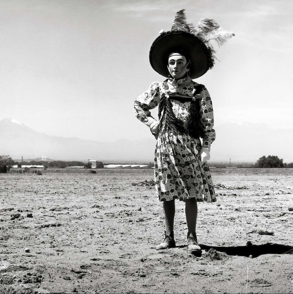 Graciela Iturbide  Carnaval, Tlaxcala, Mexico, 1974 20 x 16 inch Silver Gelatin Print Signed by the artist in ink on recto Printed under the direct supervision of the artist From the collection of the artist Illustrated in: Sueños de papel, Fondo de Cultura Económica, 1985, cover; Images of the Spirits, Aperture, 1996, page 5 GCP20390 $6,000