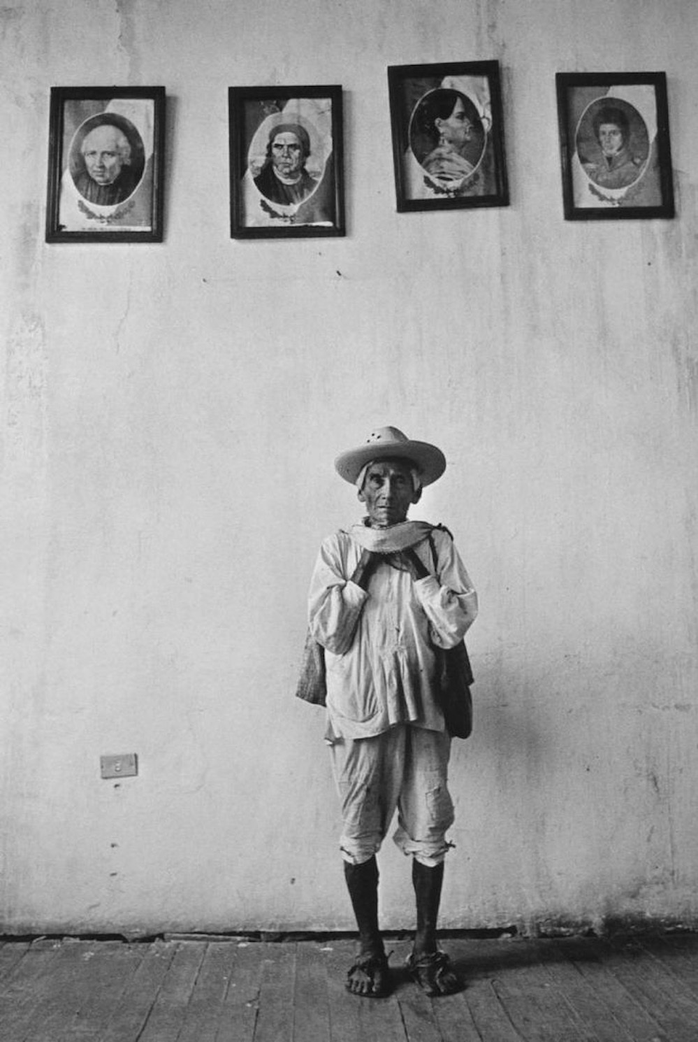 Graciela Iturbide   Héroes de la Patria,  Cuetzalan, Puebla, México, 1993 14 x 11 inch Silver Gelatin Print Signed by the artist in ink on recto From the collection of the artist Illustrated in:  Images of the Spirit , Aperture, 1996, cover image and page 10 $4,000