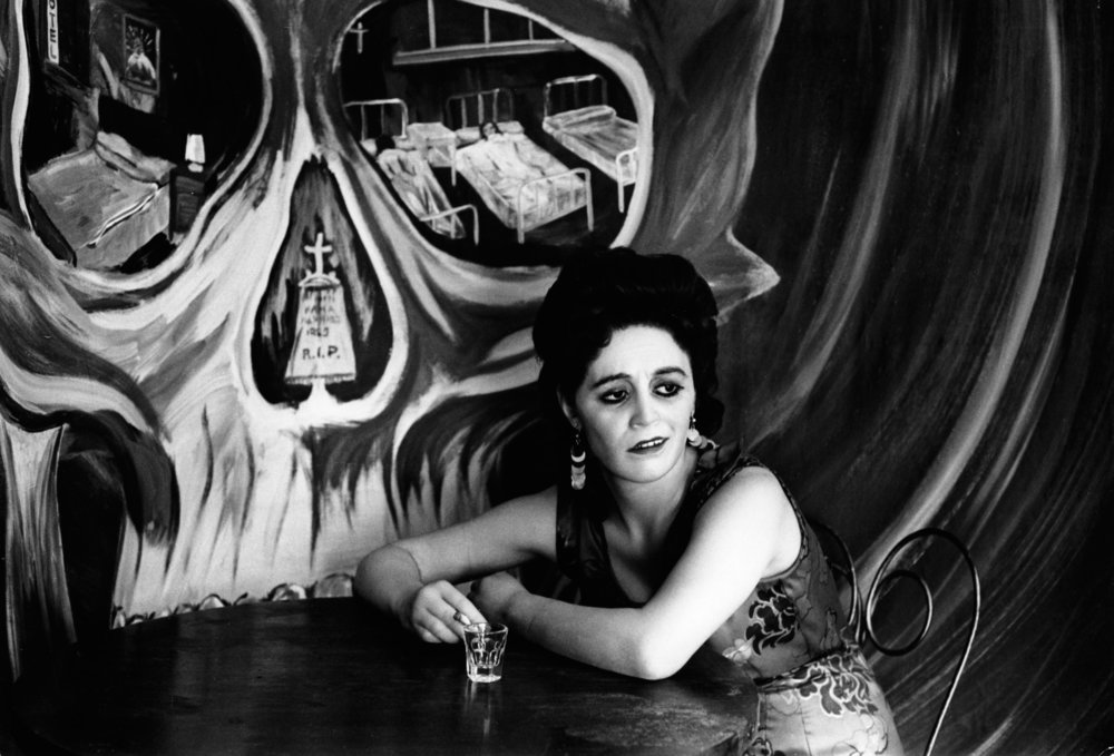 Graciela Iturbide   Mexico DF , 1972 16 x 20 inch Silver Gelatin Print Signed on recto in ink From the collection of the artist Illustrated in:  La forma y la memoria,  p. 80 ; Images of the Spirit,  pp. 92-93;  Graciela Iturbide. The Hasselblad Award 2008 , Steidl, page 64.  GCP28636 $6,000