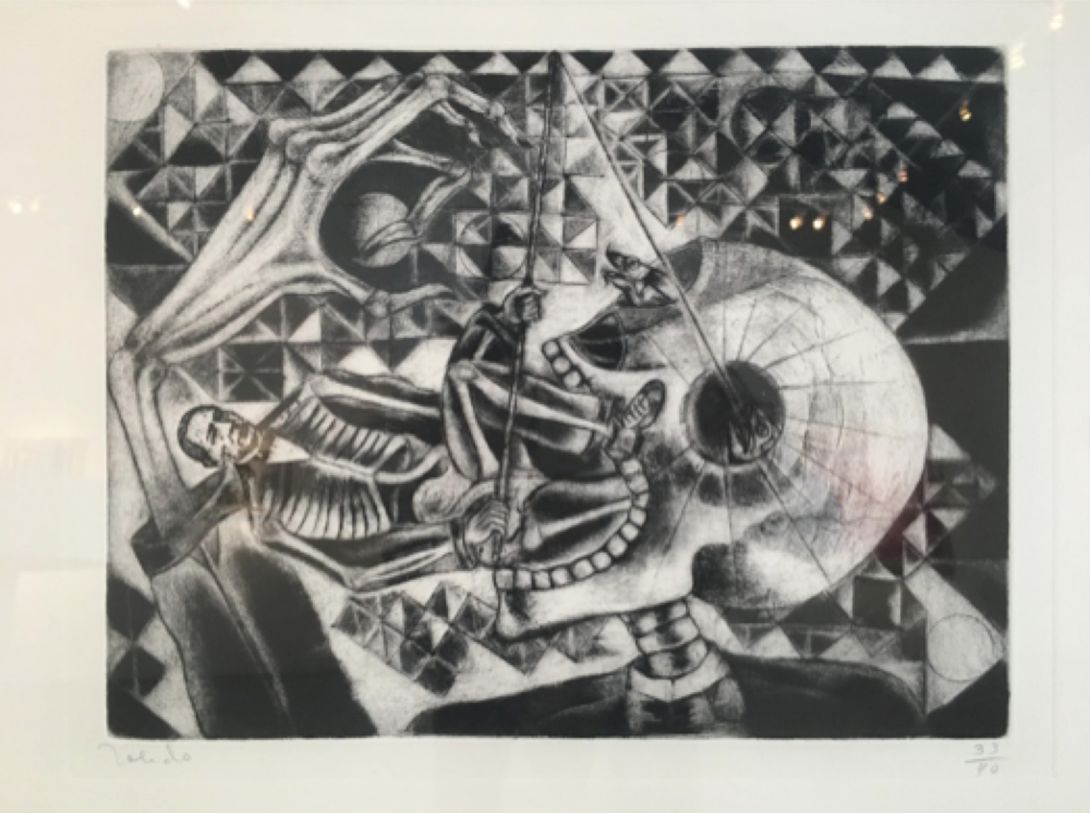 Francisco Toledo   Juarez Fishing in the Orbit of the Skull , 1988 17 x 24 inch Etching Number thirty three from and edition of forty From the collection of Latin American Masters GCP28602 $4,800