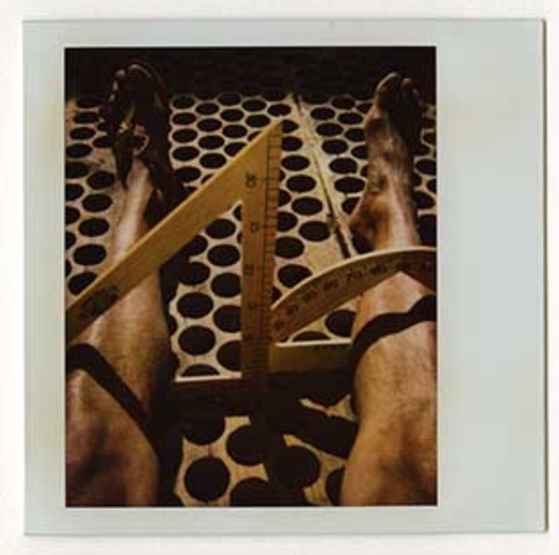 Francisco Toledo   Untitled , Autorretrato, c. 1990-2004 4 x 4 inch Polaroid From a series of unique polaroid prints reworked by the artist using several techniques such as drawing, painting, and embellishing the surface with pigments and scratching the surface emulsion. GCP27371 $2,500