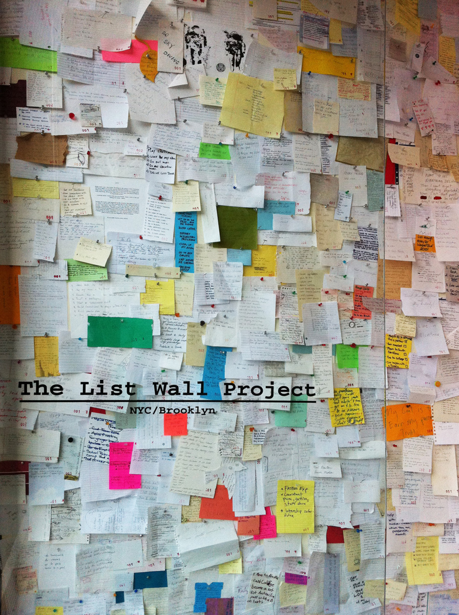 the list wall project lisa lala
