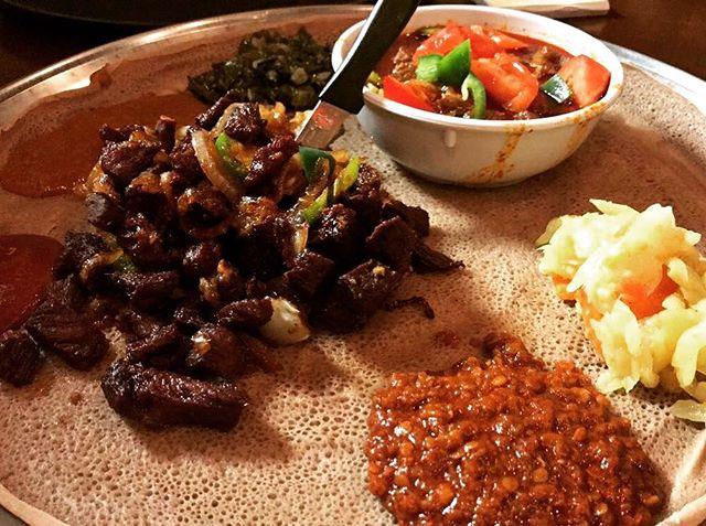 Sunday eats Goden Tibs & Awazaye Tibs #dceats #ethiopianfood #dcfoodie