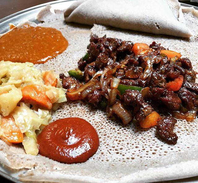 Derek Tibs 😋#ethiopianfood #dcfoodie #beef #dceats