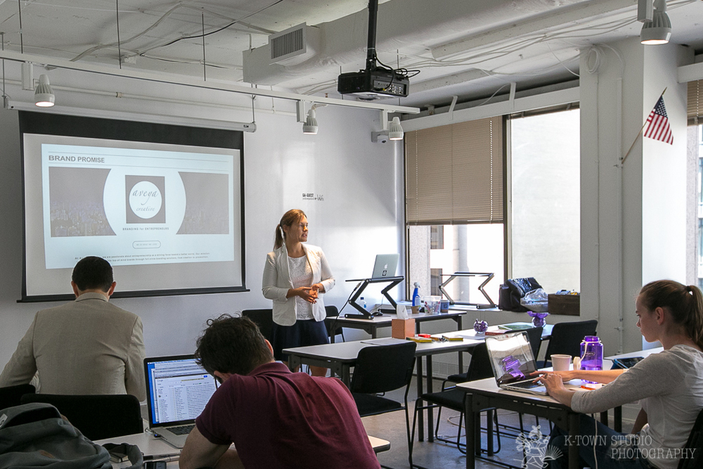 """Branding for Innovators Bootcamp"" taught by Aveya Creative founder Mariya Bouraima at General Assembly DC"