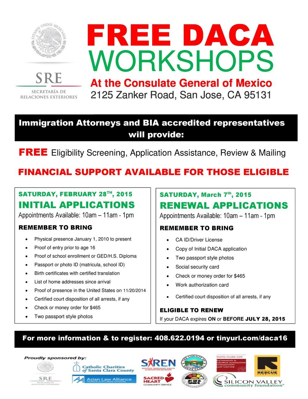 Initial daca workshop siren services immigrant rights and initial daca workshop siren services immigrant rights and education network xflitez Gallery