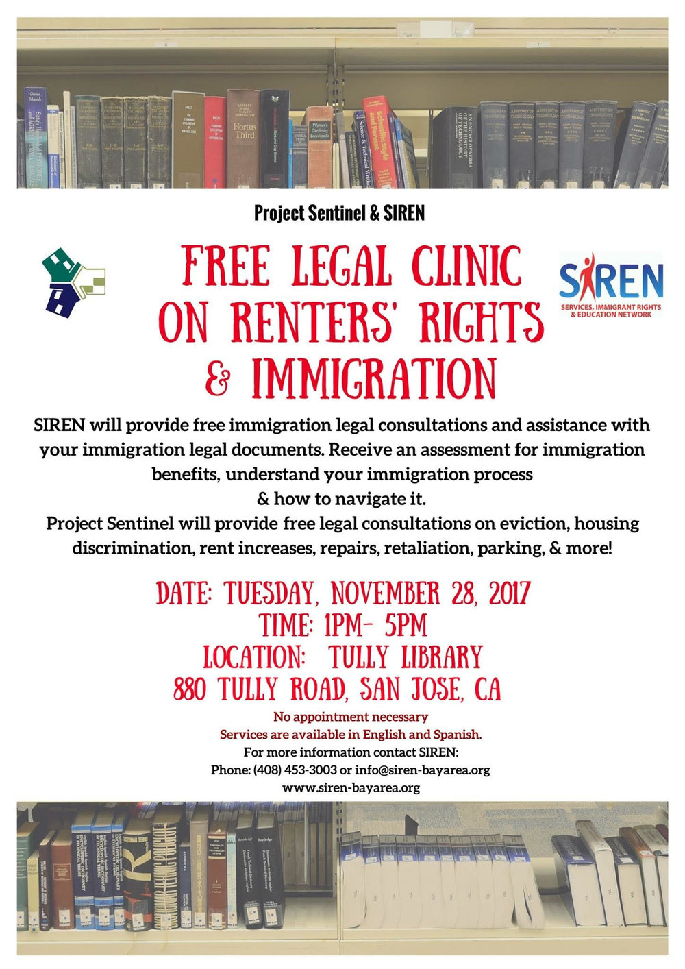 SIREN-Tully Library Free Legal Clinic on Renter's Rights & Immigration .jpg
