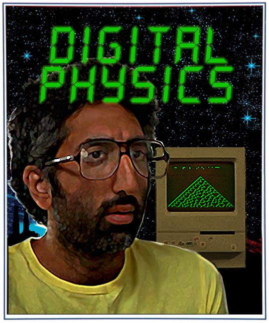 Set in a hostel in the 1980s, 'Digital Physics' follows Khatchig, a man searching for truth in mathematics, physics, logic, and life. As Khatchig monopolizes the sole computer in the hostel to make sense of a counter-intuitive result, he has an epiphany: We may be living in a computer simulation. Khatchig sets out to find the program that will be the code for our universe and the Nobel laureate that will vindicate his work.  As his theories take him deeper into a questionable mental state, Khatchig must deal with the derision from those around him, unrequited love, and his own self-destructive nature. The concepts explored in 'Digital Physics' are based on the works of Gottfried Leibniz, Alan Turing, Stephen Wolfram, Gregory Chaitin, Albert Einstein, Ed Fredkin, Kurt Gödel and many other mathematicians, physicists, computer scientists, and philosophers.