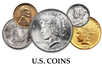 All Denominations of United States Coins