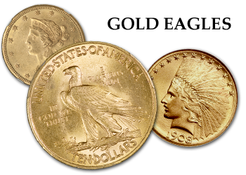 Liberty and Indian Gold Eagles - $10 Gold Pieces
