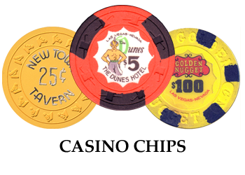 Casino Chips from Las Vegas and Reno Nevada