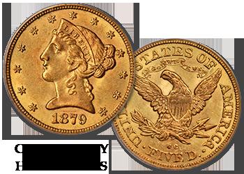 "Carson City Liberty Gold Half Eagles - ""CC"" $5 Gold Pieces"