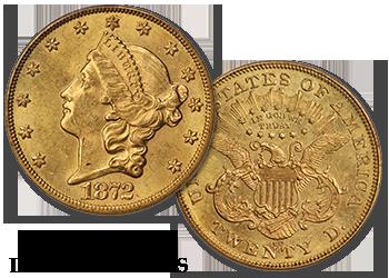 "Carson City Liberty Gold Double Eagles - ""CC"" $20 Gold Pieces"