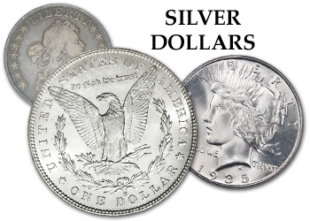 Bust, Gobrecht, Liberty Seated, Trade, Morgan, & Peace Silver Dollars - $1