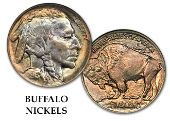 Buffalo Nickels - 5c
