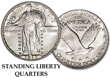 Standing Liberty Quarters - 25c