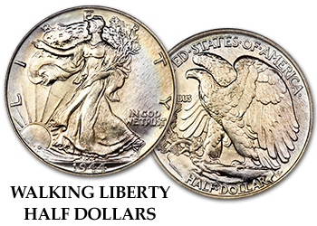 Walking Liberty Half Dollars - 50c